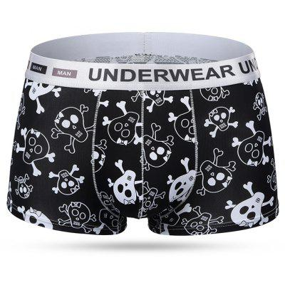 Ice Silk Breathable Printing Man Hipster Underwear Boxers