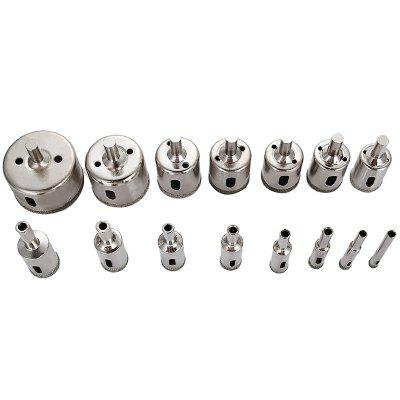 Alloy Glass Hole Opener 15PCS