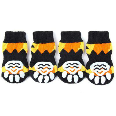 Anti Slid Cute Cotton Dog Pet Shoe Sock 2 Pair