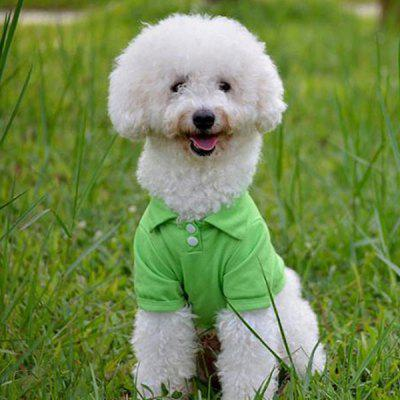 Pet Dog Candy Color Turn-down Collar T-shirt