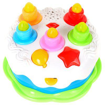 Baoli Kids Birthday Cake Toy with Counting Candles Music