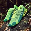 Male Breathable Matching Color Mesh Cloth Sneakers - YELLOW GREEN