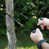 Portable Outdoor Pocket Chain Saw - BLACK