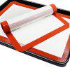 Silicone Baking Heat Safe Mat Cut Corner Cooking Pad 1pcs - FIRE ENGINE RED