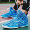 Cool Fashionable Two Tone Air Mesh Sneakers for Men - SKY BLUE