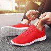 Solid Color Casual Simple Sneakers for Men - RED