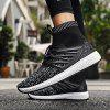 Male Fashion Breathable Knitted Sports Sneakers - MULTI-B
