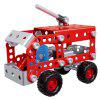 4 in 1 Fire Truck Series Puzzle Toy Set - RED