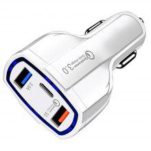 Gearbest QC3.0 Dual USB Ports Type-C Car Charger