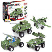 Metal + ABS Material Military Car Blocks Toy