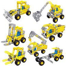 Kids Educational DIY Assembled Engineering Vehicle Toys