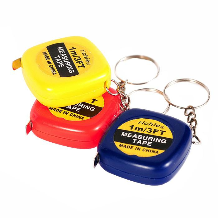 Portable Mini Tape Measure Keychain for Daily Using 1PC - MULTI