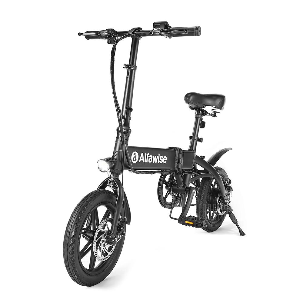 Alfawise X1 Folding E-bike Bicycle Electric Bike with 250W Motor 25km/h Speed - Black 7.8Ah Battery