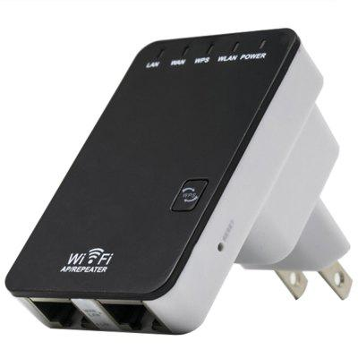 300Mbps WiFi Repeater Extender Wireless-N Mini Router with US Plug