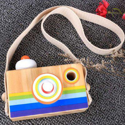 Emulational Wooden Camera Children's Fun Toy