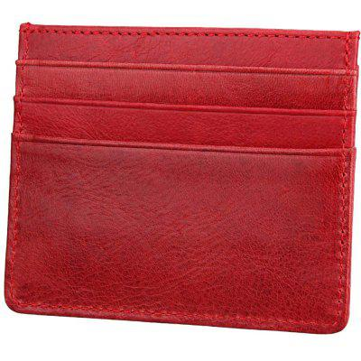 Retro Style Leather Card Wallet