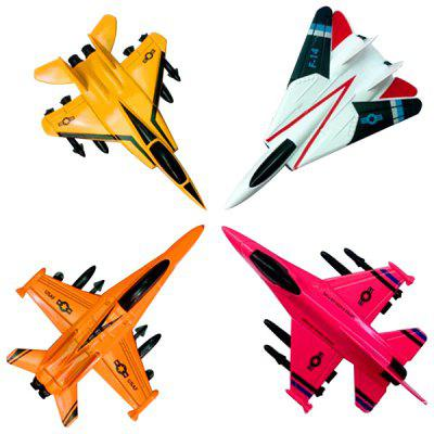 Alloy Simulation Military Fighter Aircraft Model Toy 4pcs