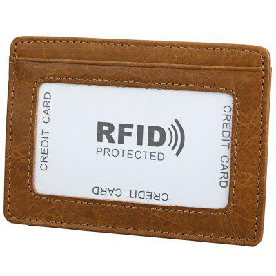 Simple Unisex Business Card Holder Leather Clip