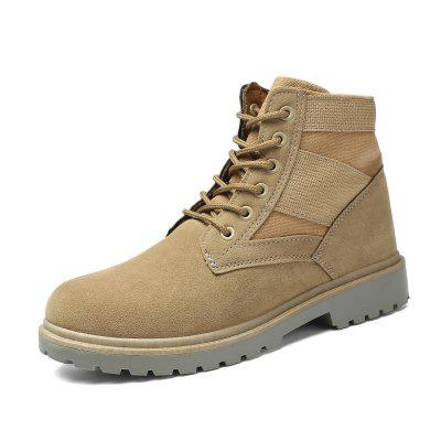 Men Trendy Outdoor Splicing Anti-slip Boots