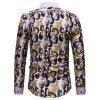 Men's Fashion Long-sleeved Casual Slim Shirt - YELLOW