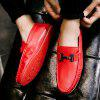 Male Soft Casual Flat Loafers - RED