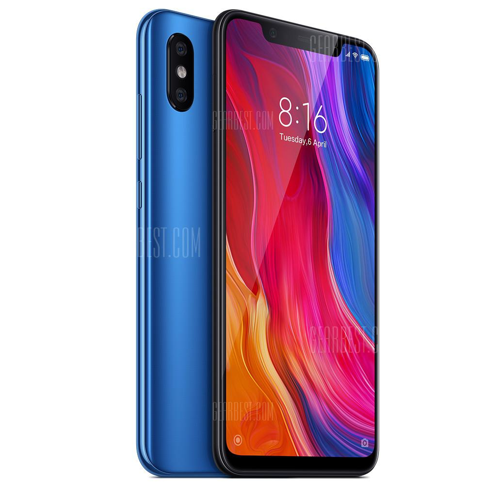 Xiaomi Mi 8 MIUI 9 4G Phablet International Version - COBALT BLUE 6+64GO