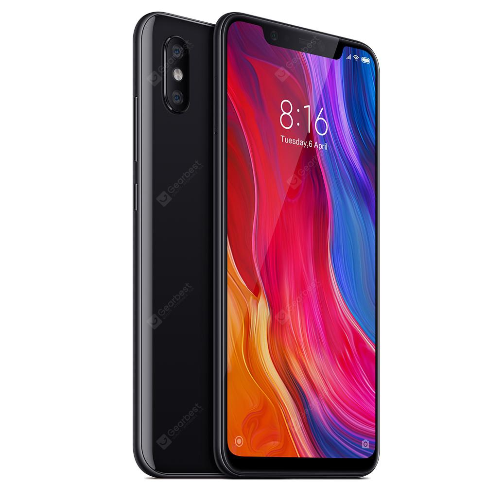 Xiaomi Mi 8 MIUI 9 4G Phablet International Version - BLACK 6+64GB