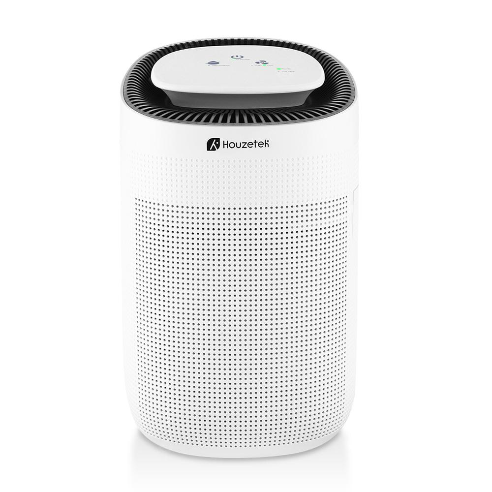Houzetek Q7 Desktop Air Purifying Dehumidifier with HEPA Filter WHITE EU PLUG