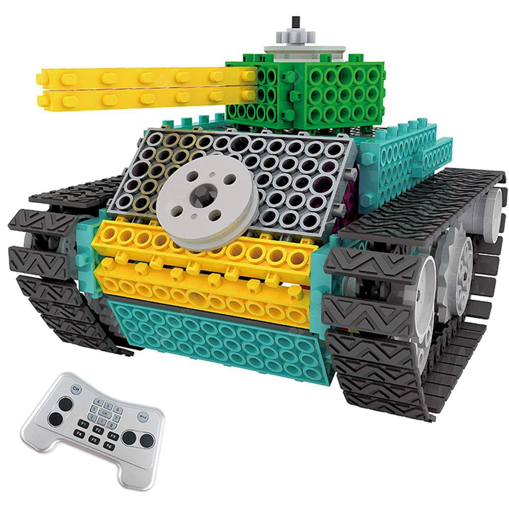 DIY Building Blocks Tank Toy with Remote Control 145pcs - MULTI