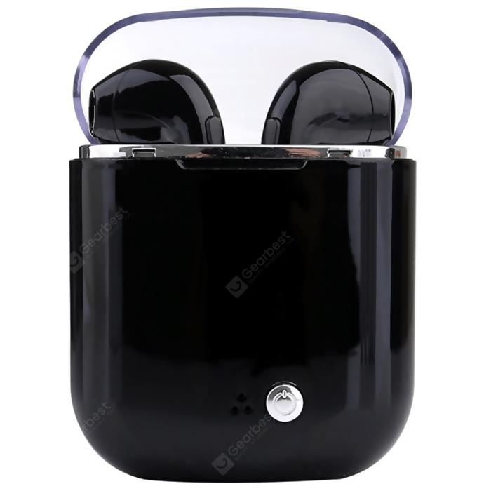 i7s TWS Smart Wireless Bluetooth Earphone with Charging Box - BLACK