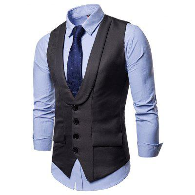 Single-breasted V Neck Suit Waistcoat for Men