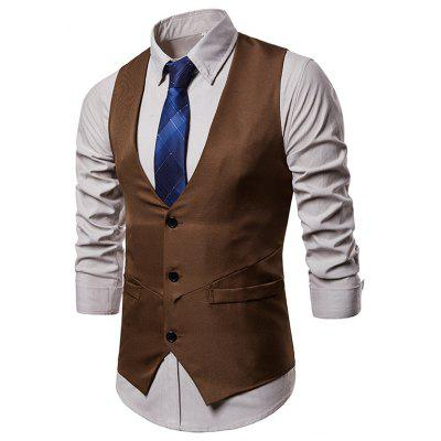 Single-breasted V Neck Casual Suit Waistcoat for Men
