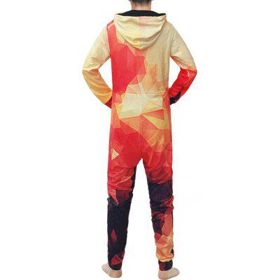 Geometry Pattern Fashionable Onesies para hombres