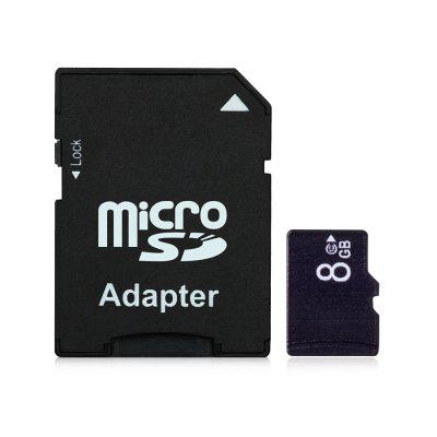 Micro SD / TF Card with Sleeve 15MB/s 5MB/s 8GB