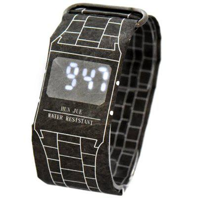 Paper Waterproof Handmade Digital Wrist Watch for Friend