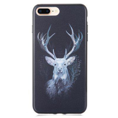 3D stereo Flash Deer model de caz pentru iPhone 6 Plus / 6S Plus / 7 Plus / 8 Plus