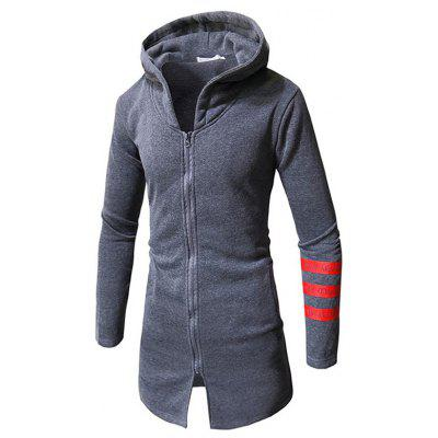 Casual Print Long Hoodie Sweatshirt for Man