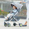 Xiaomi Youpin Lightweight Portable Baby Stroller - LIGHT AQUAMARINE