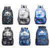 Fashionable Printed Pattern Backpack for Men and Women - BLACK