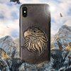 Retro Style 3D Pattern Protective Phone Case for iPhone X - GOLD