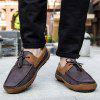 Men Leisure Warm Slip-on Casual Flat Shoes - BROWN BEAR