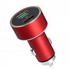 QC3.0 Dual USB Type-C Car Charger