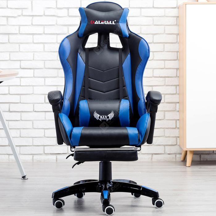 E-Sports Gaming Chair with Steel Feet Support - Blue Orchid