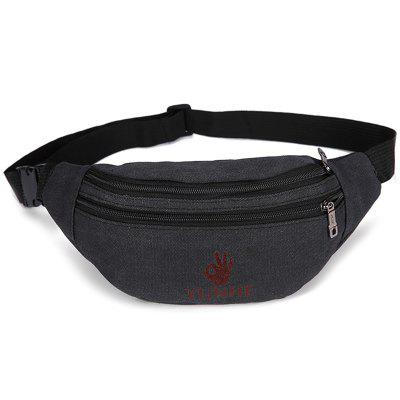 HUWAIJIANFENG Large Storage Canvas Waist Bag for Sports