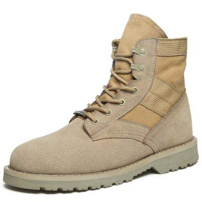 Fashion Lace-up High-top Wear-resistant Men Boots