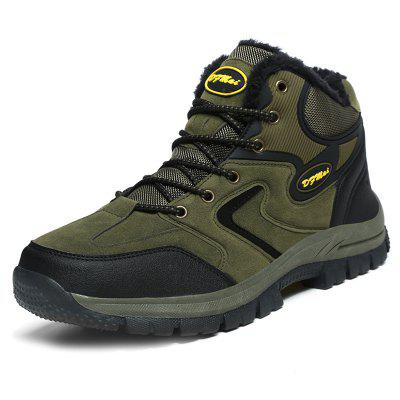 Outdoor Hiking Waterproof geborstelde heren snowboots
