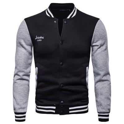 AOWOFS Long Sleeve Baseball Jacket Men Coat