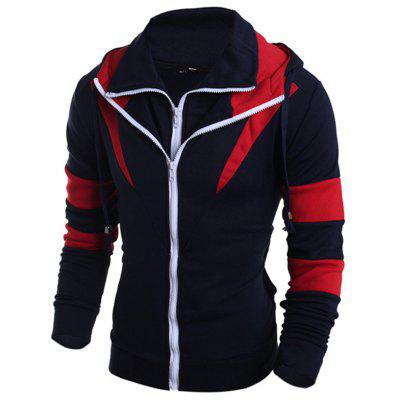 Male Trendy Matching Color Slim Fit Sweatshirt