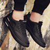 Simple Stylish Air Mesh Sneakers for Men - BLACK
