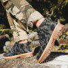 Trendy Men Camouflage Pattern Ankle Boots Casual Shoes - ASH GRAY